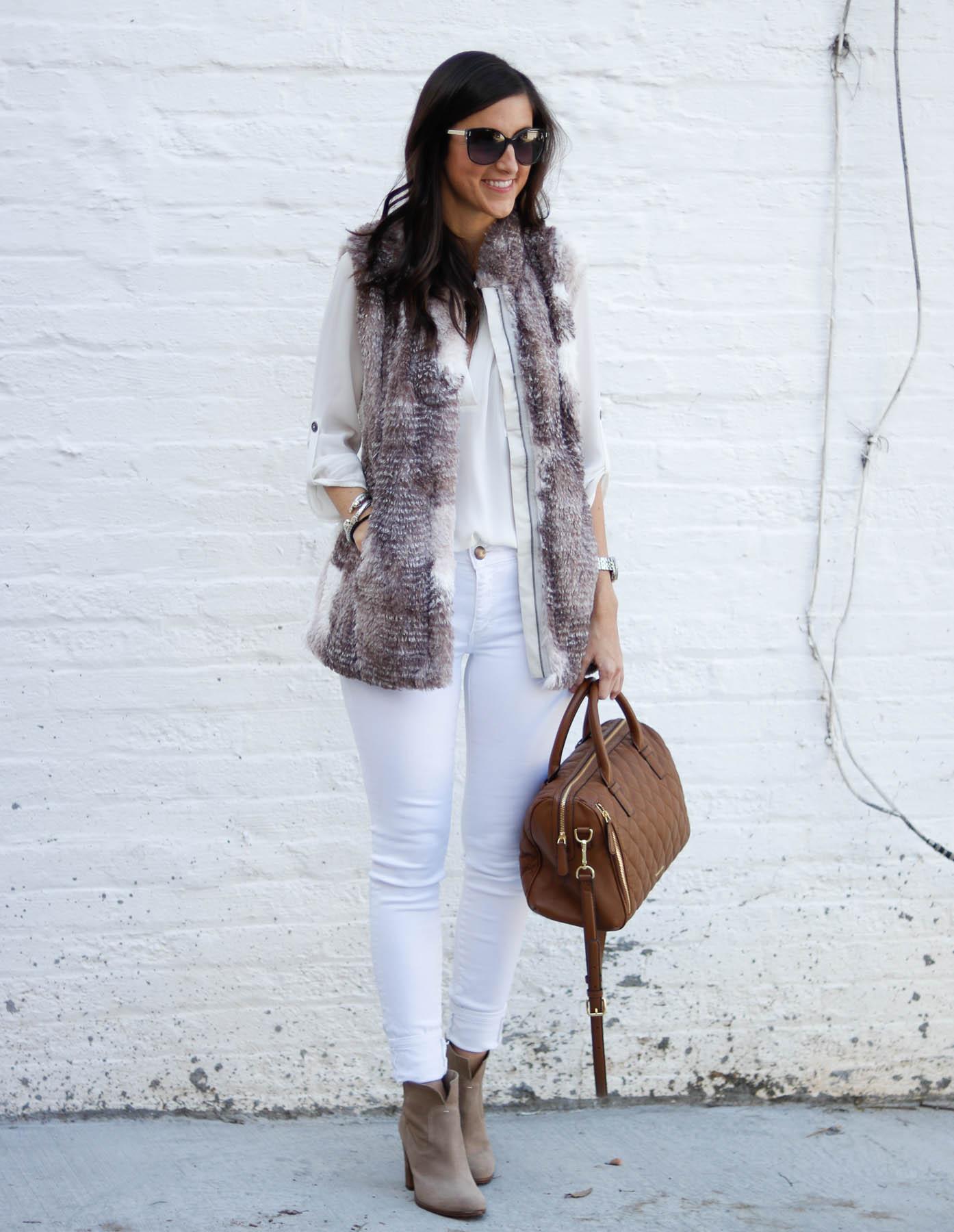 Fall Neutrals + The Perfect Faux Fur Vest