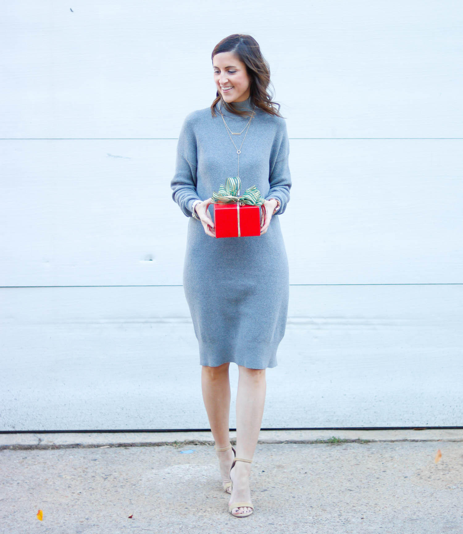 Nordstrom Sweater Dress - Grey Sweater Dress for the Holidays by Washington DC style blogger Cobalt Chronicles