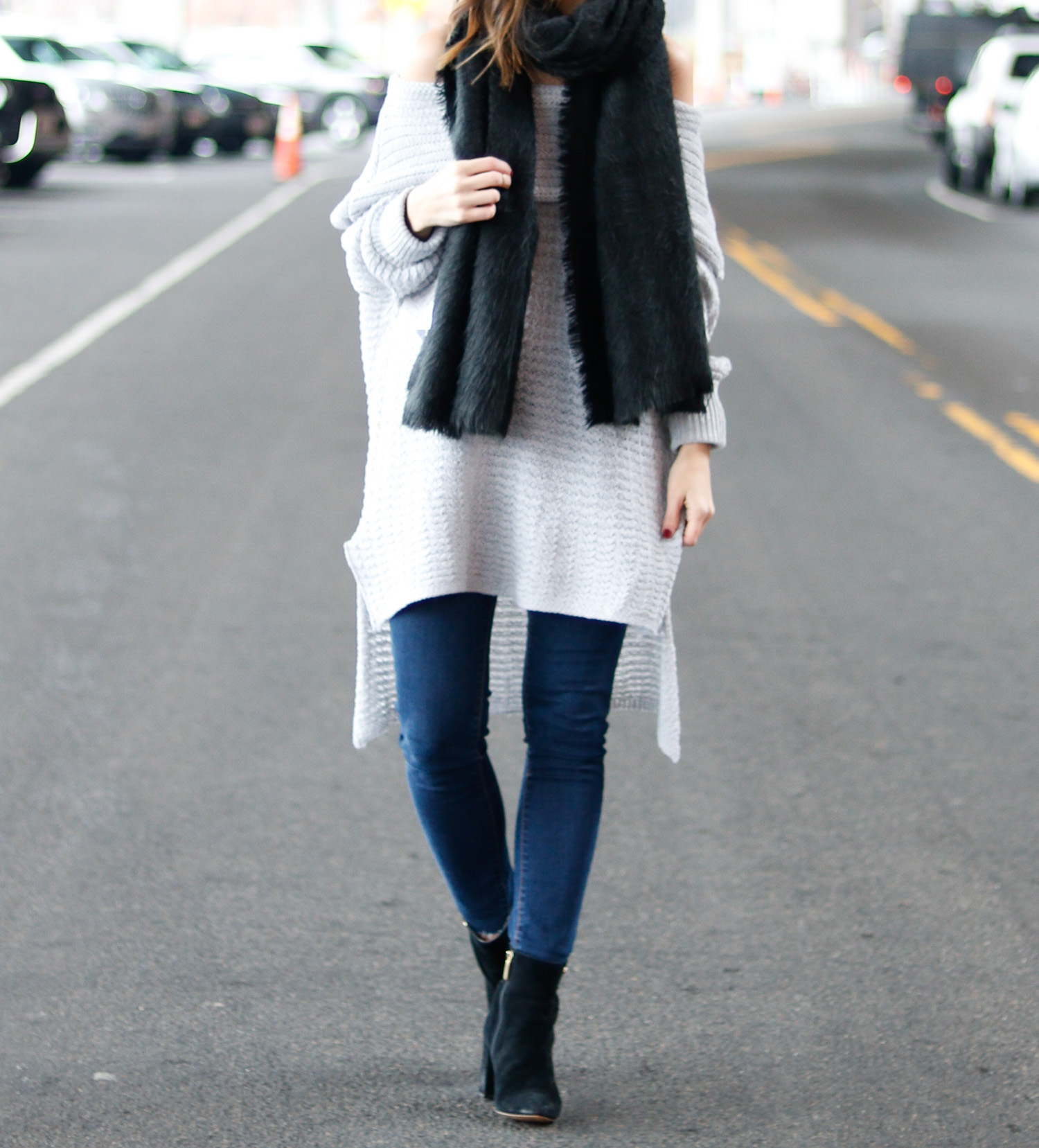 Grey off the shoulder sweater - Cobalt Chronicles