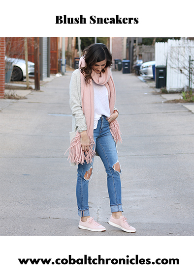 Blush Sneakers | Cobalt Chronicles | Washington, DC | Style Blogger