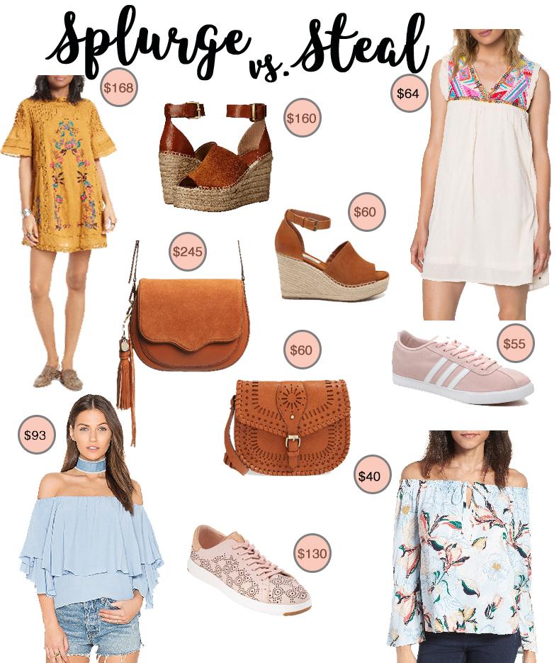 Spring Essentials - Splurge vs. Steal @cobaltchronicle