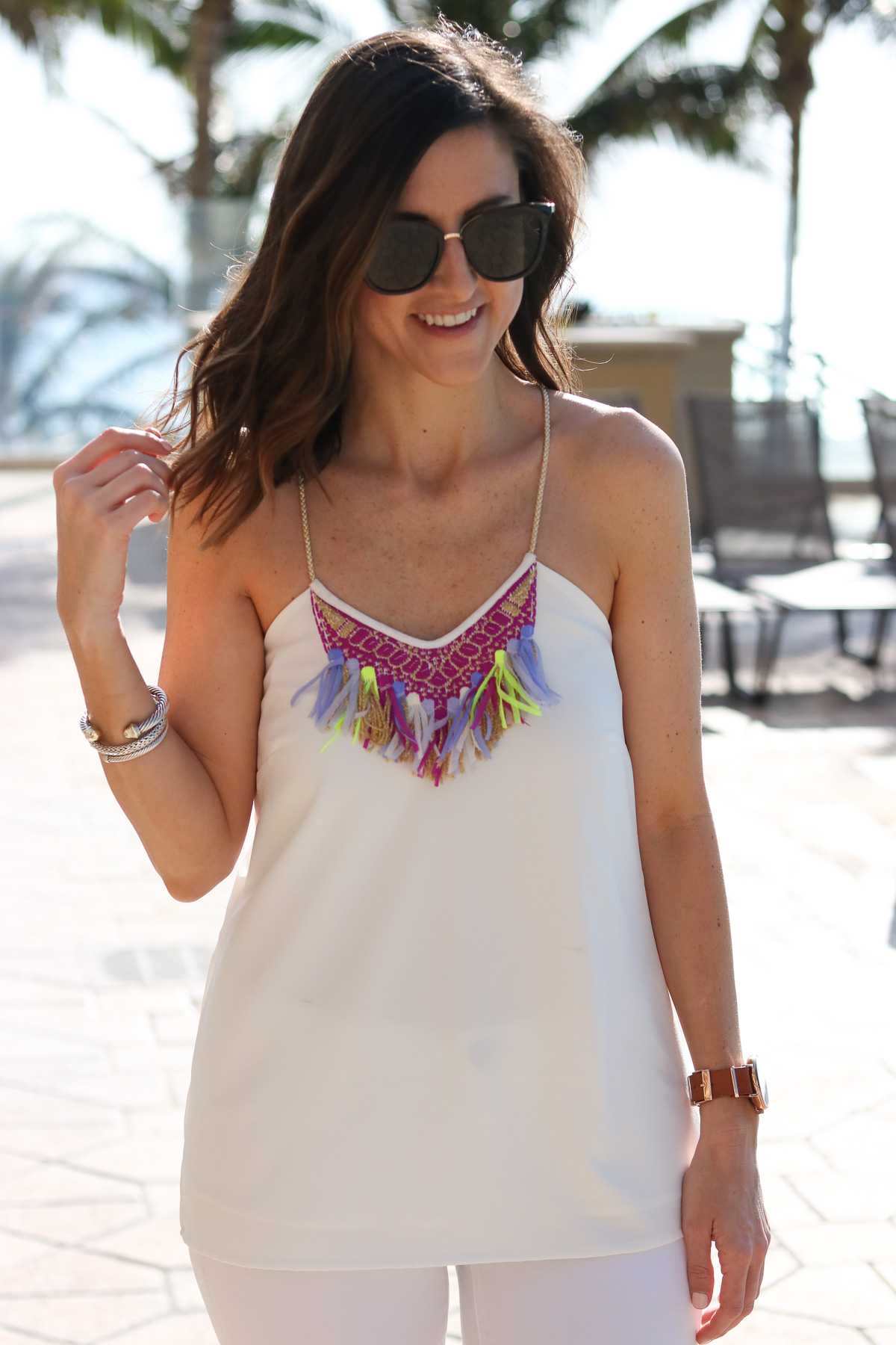 White Fringe Top @cobaltchronicle