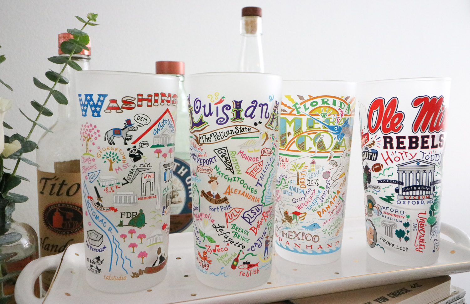 catstudio Frosted Glasses - Unique Wedding Gift Idea - Cobalt Chronicles
