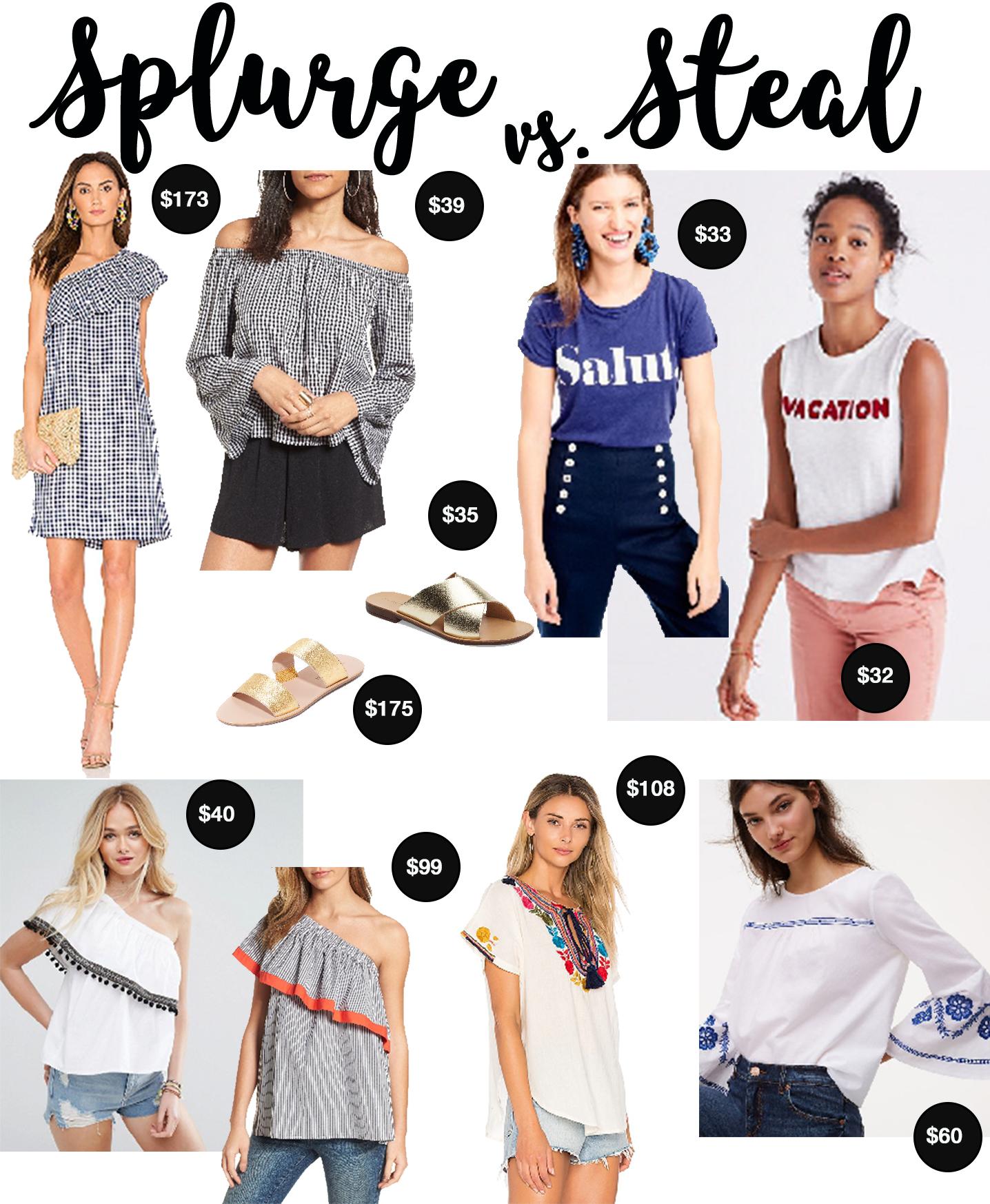Splurge vs. Steal Summer Style