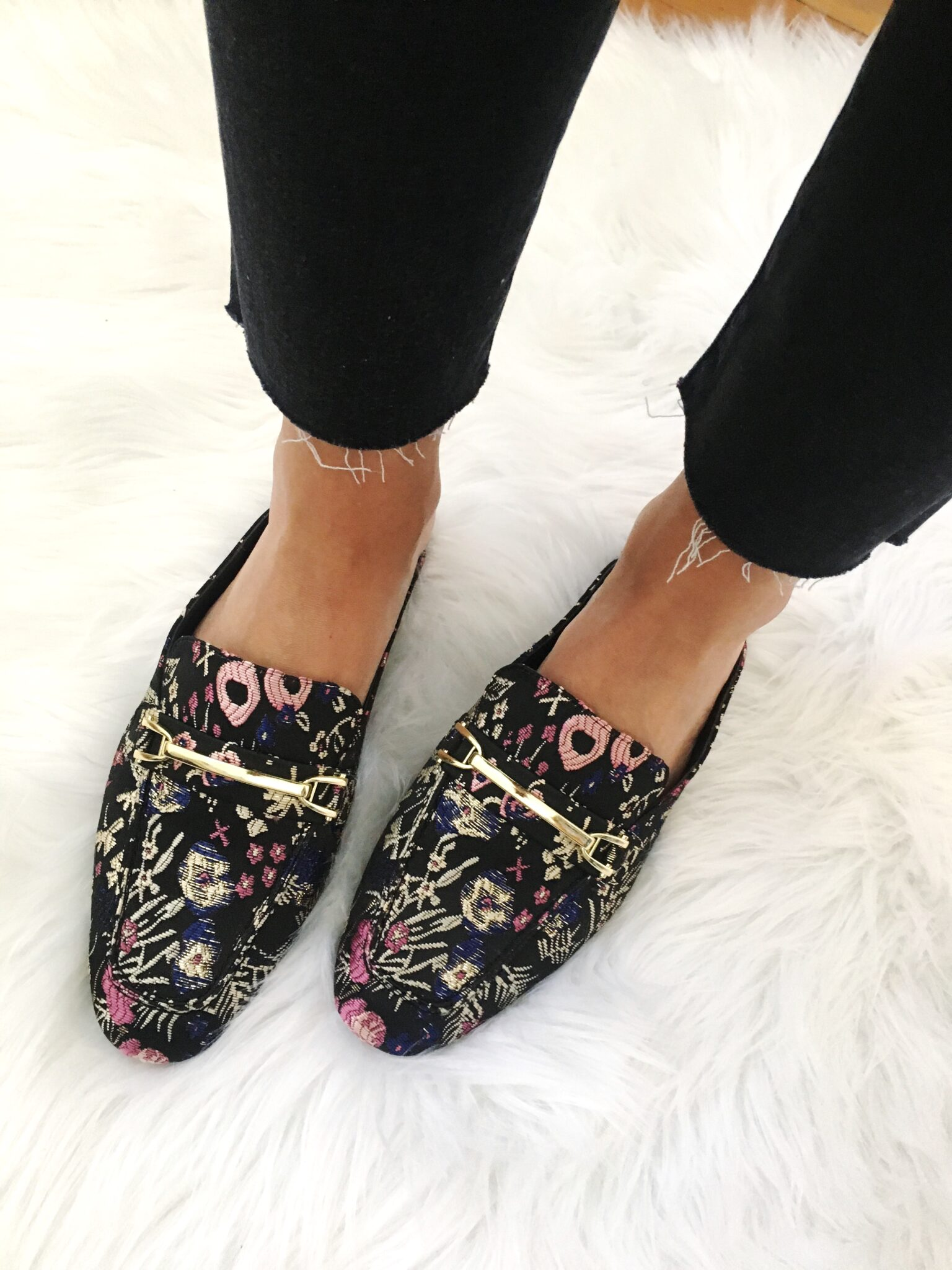 Embroidered Slides for Fall - Nordstrom Anniversary Sale Try On Session by popular Washington DC style blogger Cobalt Chronicles