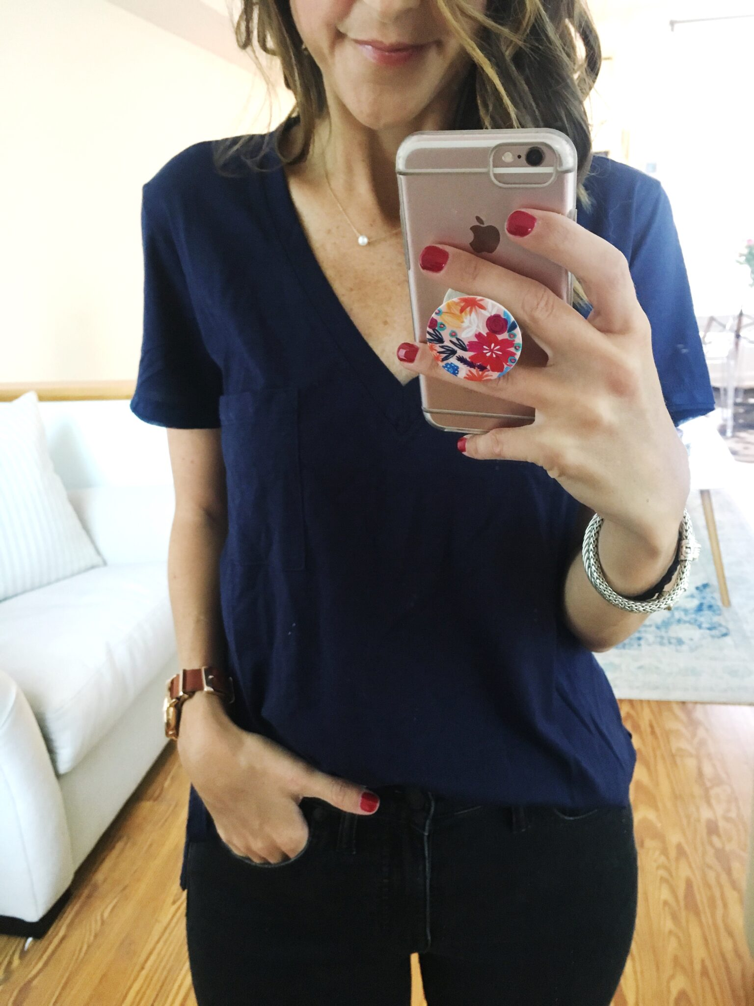 Easy Soft Tee - Nordstrom Anniversary Sale Try On Session by popular Washington DC style blogger Cobalt Chronicles