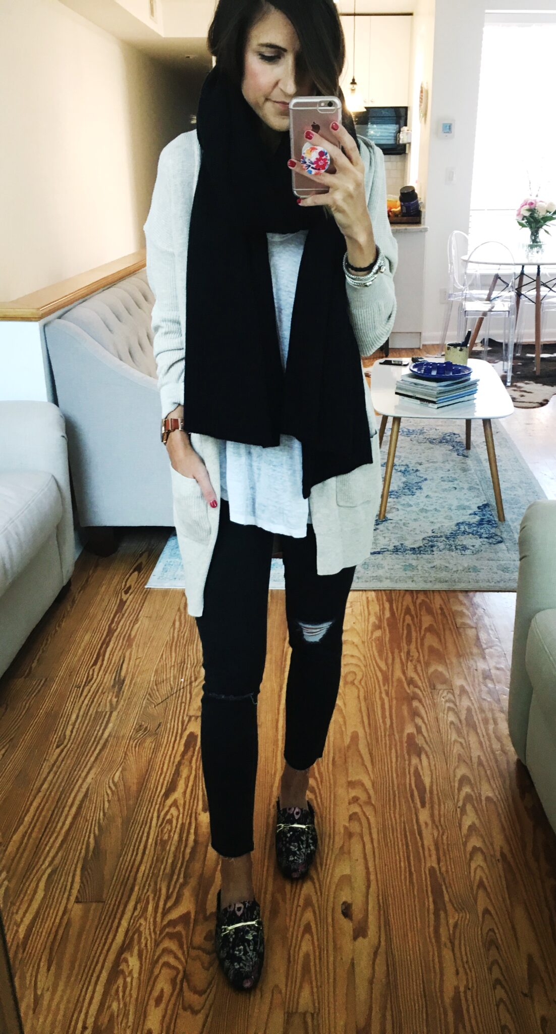 Cashmere Scarf Under $100 - Nordstrom Anniversary Sale Try On Session by popular Washington DC style blogger Cobalt Chronicles