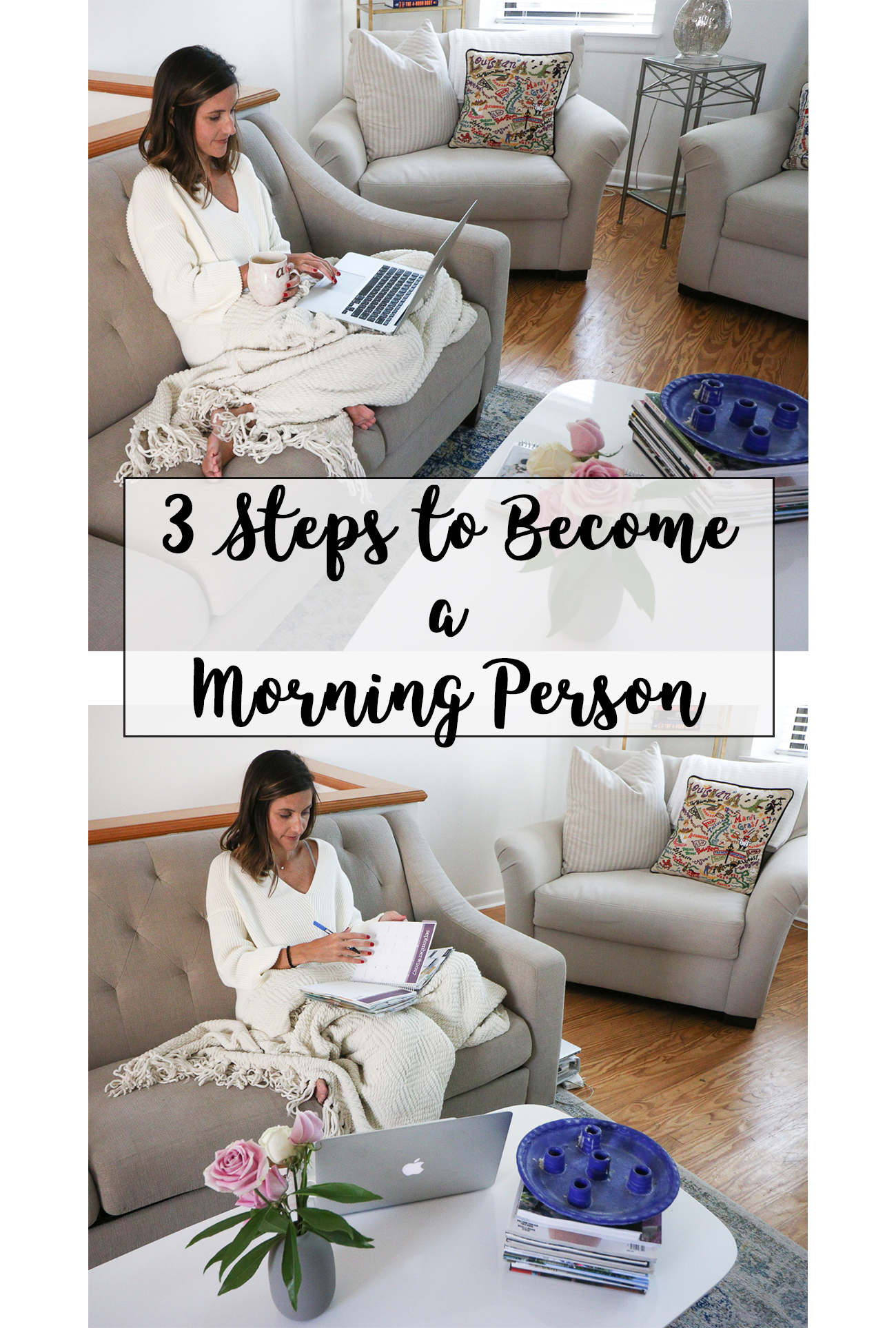 Steps to Become a Morning Person | My Morning Routine - 3 Steps to Become a Morning Person by popular Washington DC lifestyle blogger Cobalt Chronicles