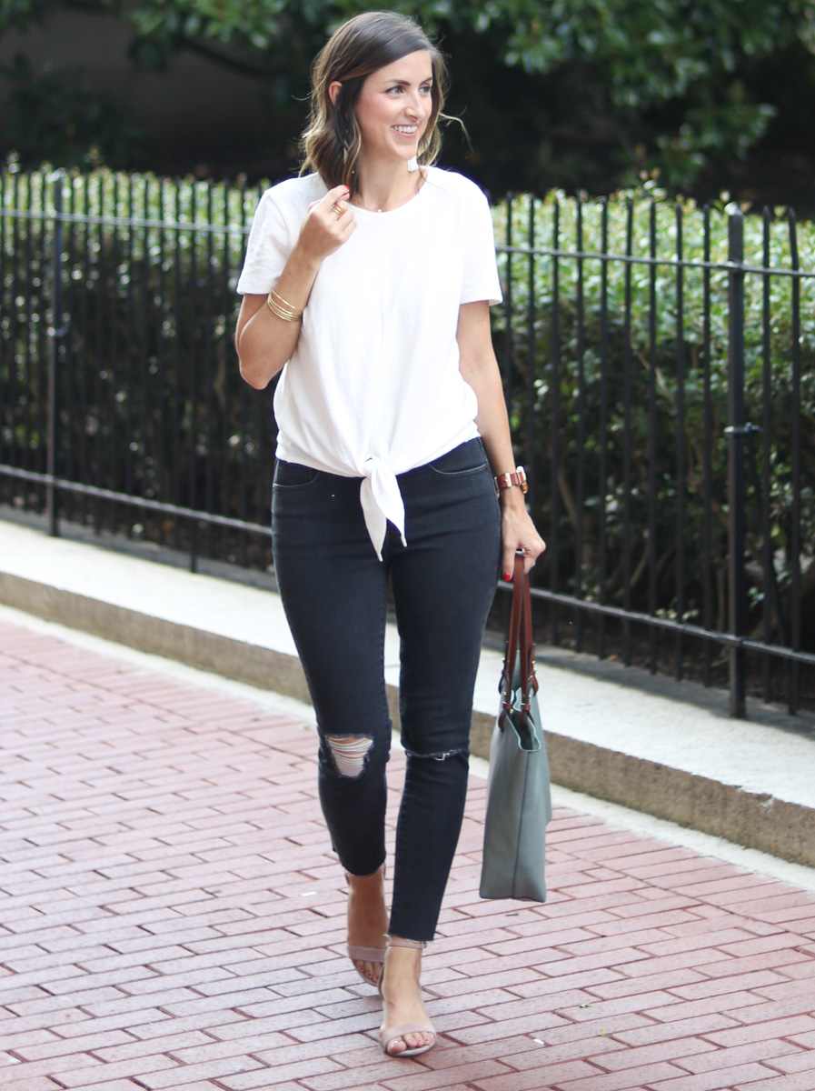 Fall Style Tie Front Top