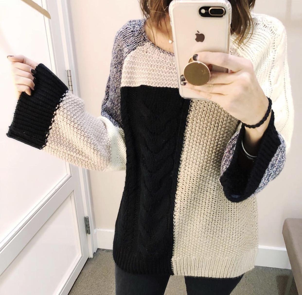 Colorblock Sweater - Instagram Fashion Lately by Washington DC fashion blogger Cobalt Chronicles