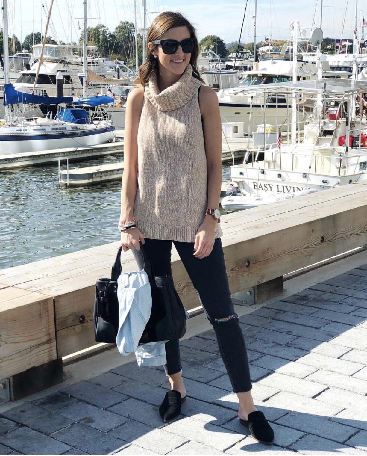 Sleeveless Turtleneck Sweater - Instagram Fashion Lately by Washington DC fashion blogger Cobalt Chronicles