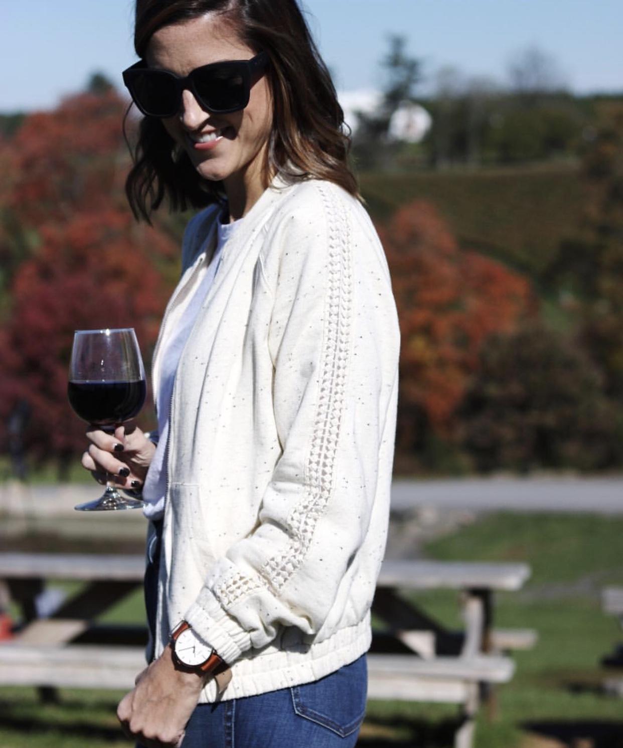 Lilla P Bomber Jacket - Instagram Fashion Lately by Washington DC fashion blogger Cobalt Chronicles
