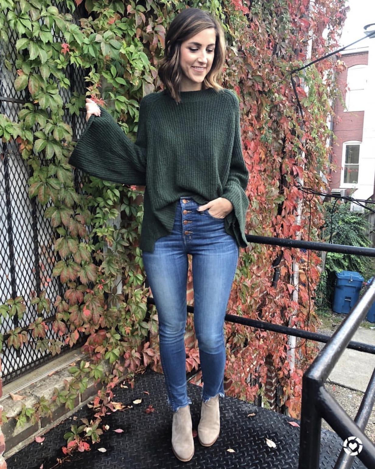 Bell Sleeve Sweater - Instagram Fashion Lately by Washington DC fashion blogger Cobalt Chronicles