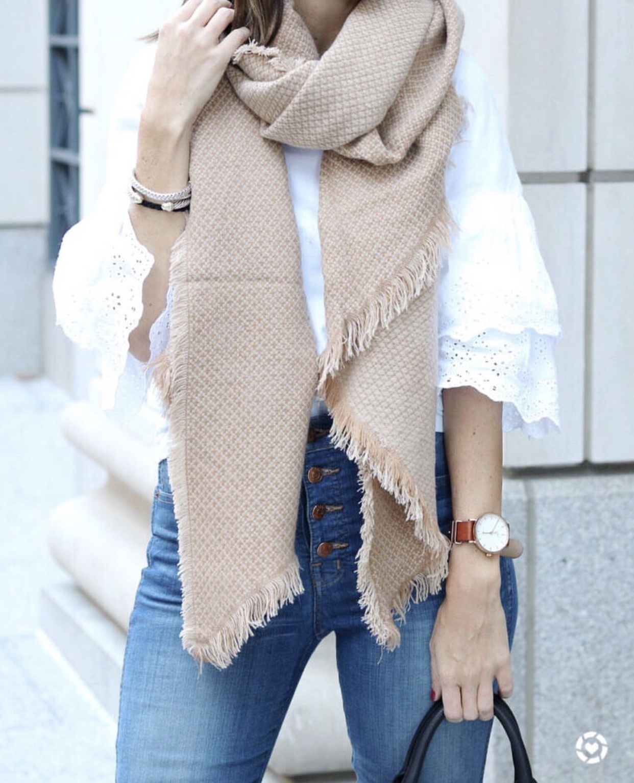 Camel Blanket Scarf - Instagram Fashion Lately by Washington DC fashion blogger Cobalt Chronicles