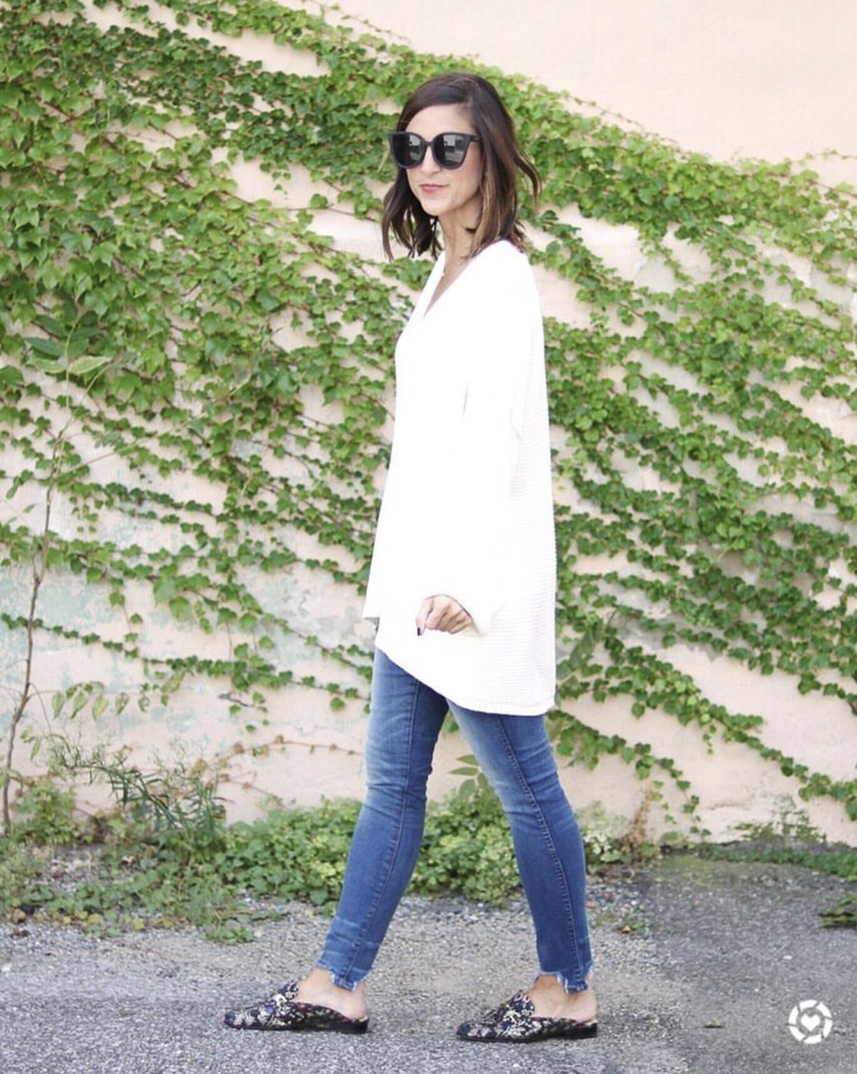 Oversized Cream Sweater - Instagram Fashion Lately by Washington DC fashion blogger Cobalt Chronicles