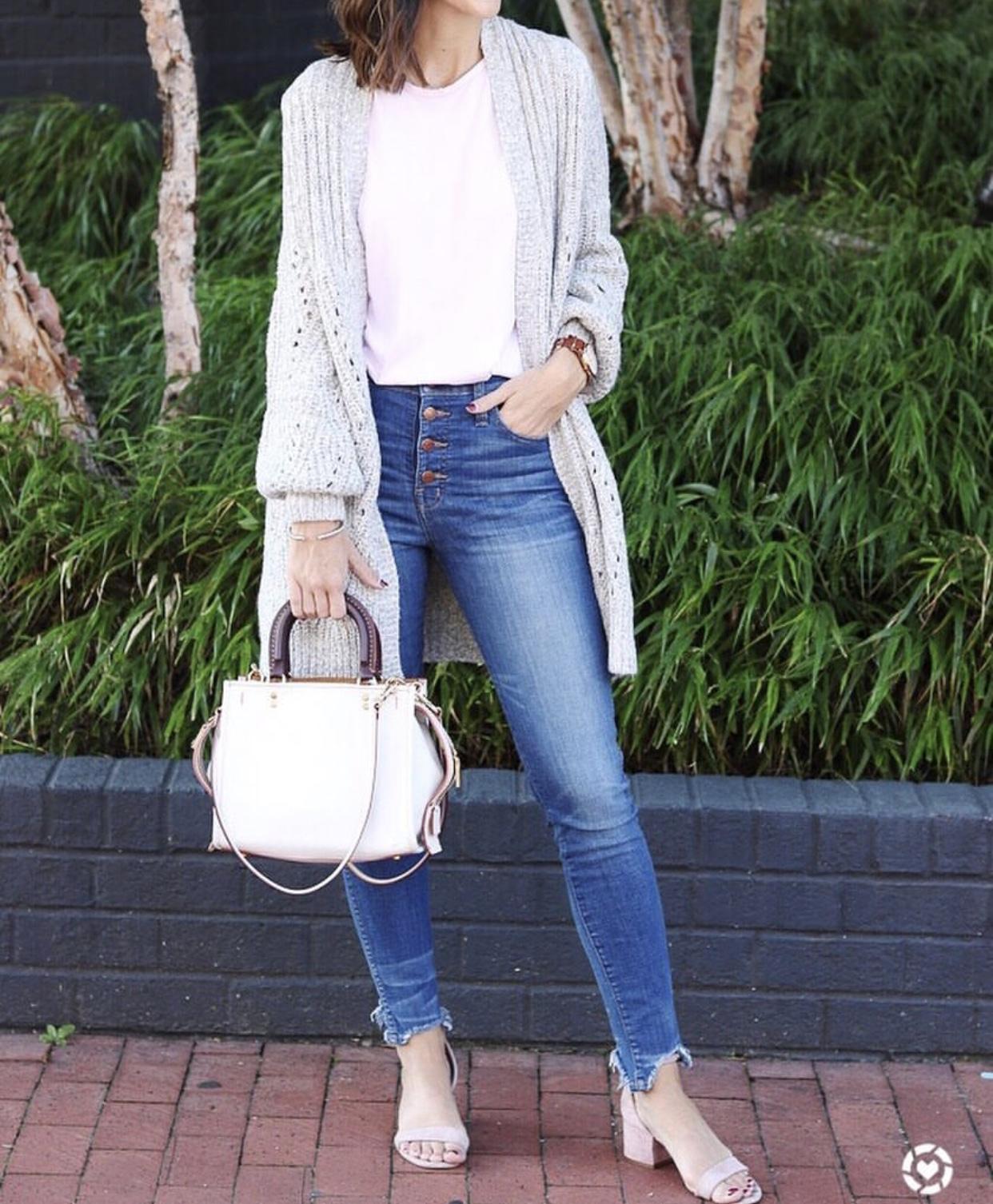 Cozy Grey Cardigan  - Instagram Fashion Lately by Washington DC fashion blogger Cobalt Chronicles