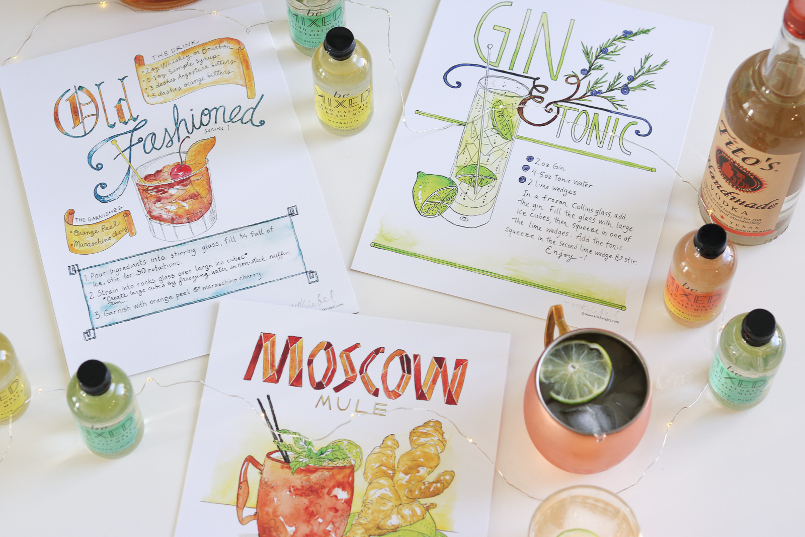 Cocktail Prints + An Easy Cocktail Recipe with Be Mixed
