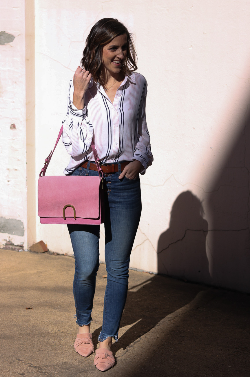 Fossil Blush Bag | Cobalt Chronicles | Washington DC | Style Blogger