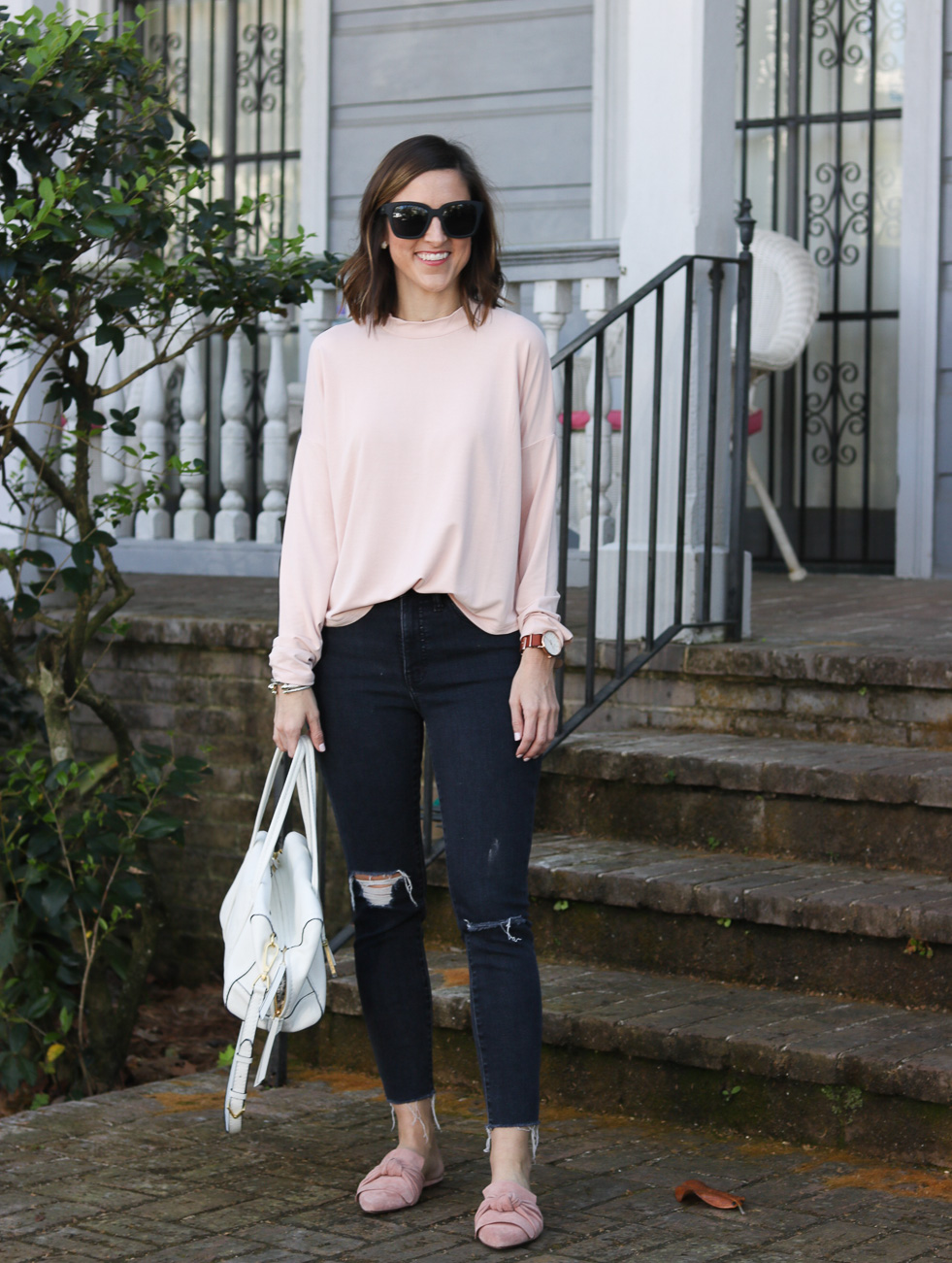 Blush Long Sleeve Tee | Cobalt Chronicles | Washington DC | Style Blogger