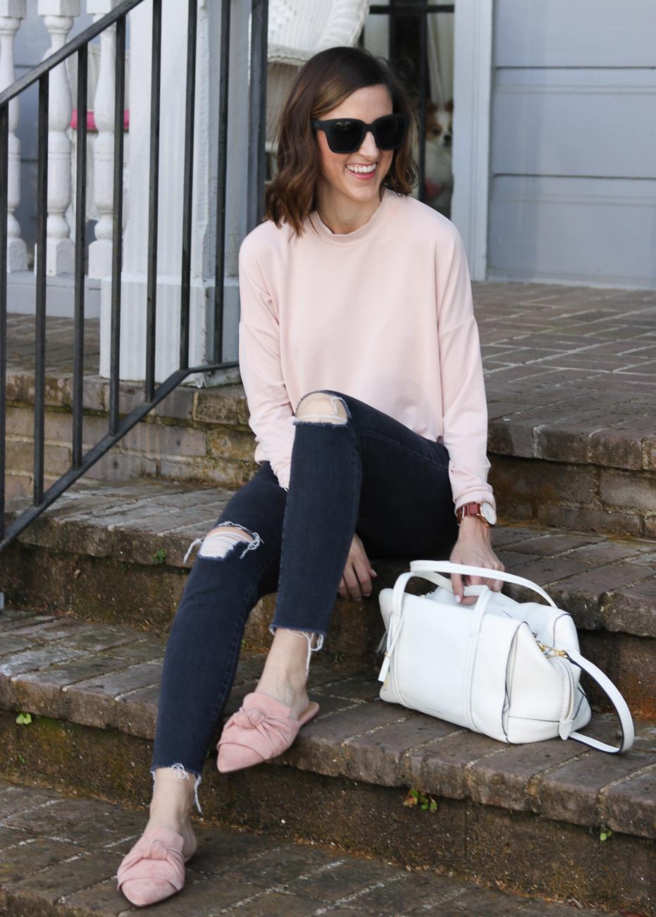 Blush Long Sleeve Tee | Cobalt Chronicles | Washington DC | Style Blogger