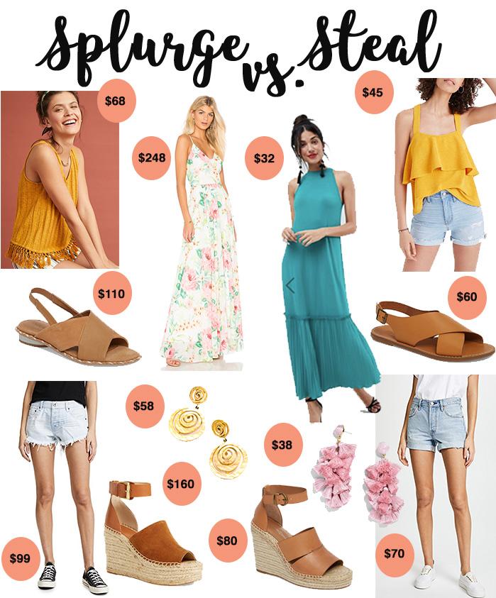 6 Summer Closet Essentials | Splurge v. Steal
