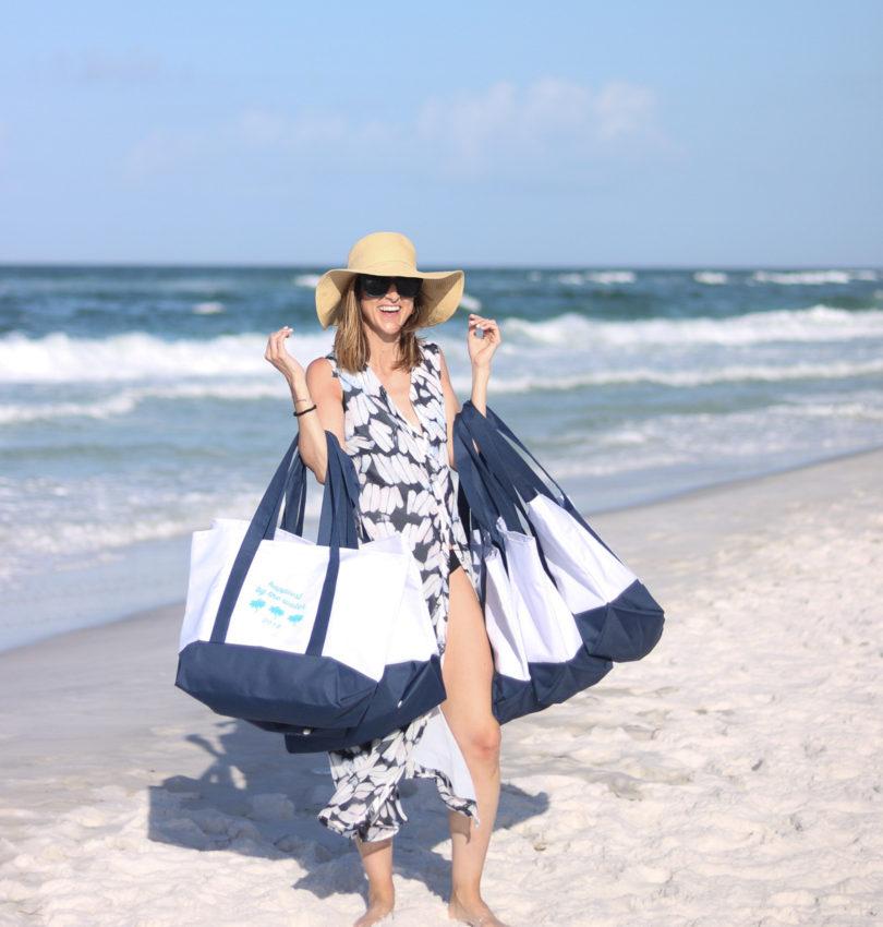 Custom Beach Bags with Custom Ink | Cobalt Chronicles | Washington, DC | Style Blogger