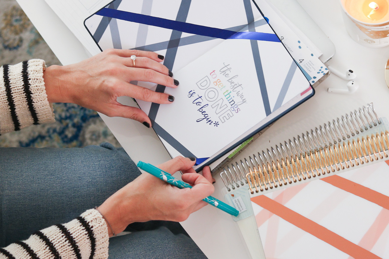 How I Organize My Day | Erin Condren Life Planner | Cobalt Chronicles | Washington, DC | Style Blogger