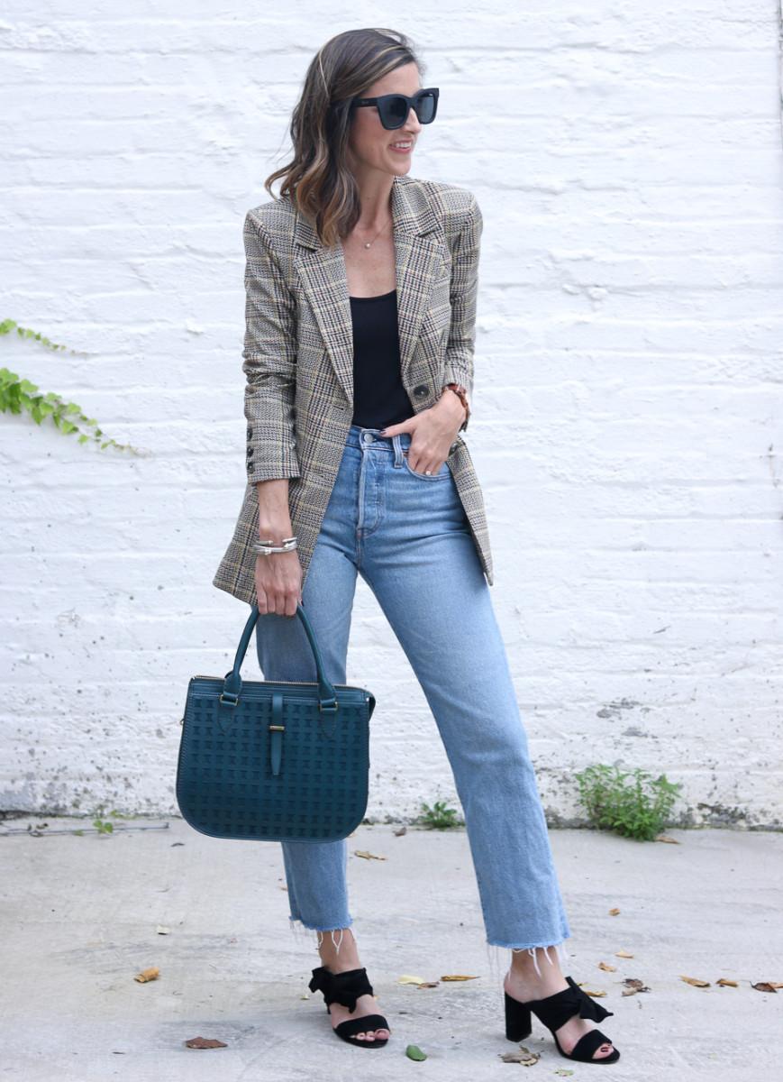 The Perfect Plaid Blazer   Cobalt Chronicles   Washington, DC   Style Blogger
