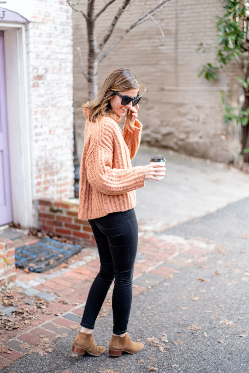 Winter Uniform | Free People Sweater | Cobalt Chronicles | Washington, DC | Style Blogger