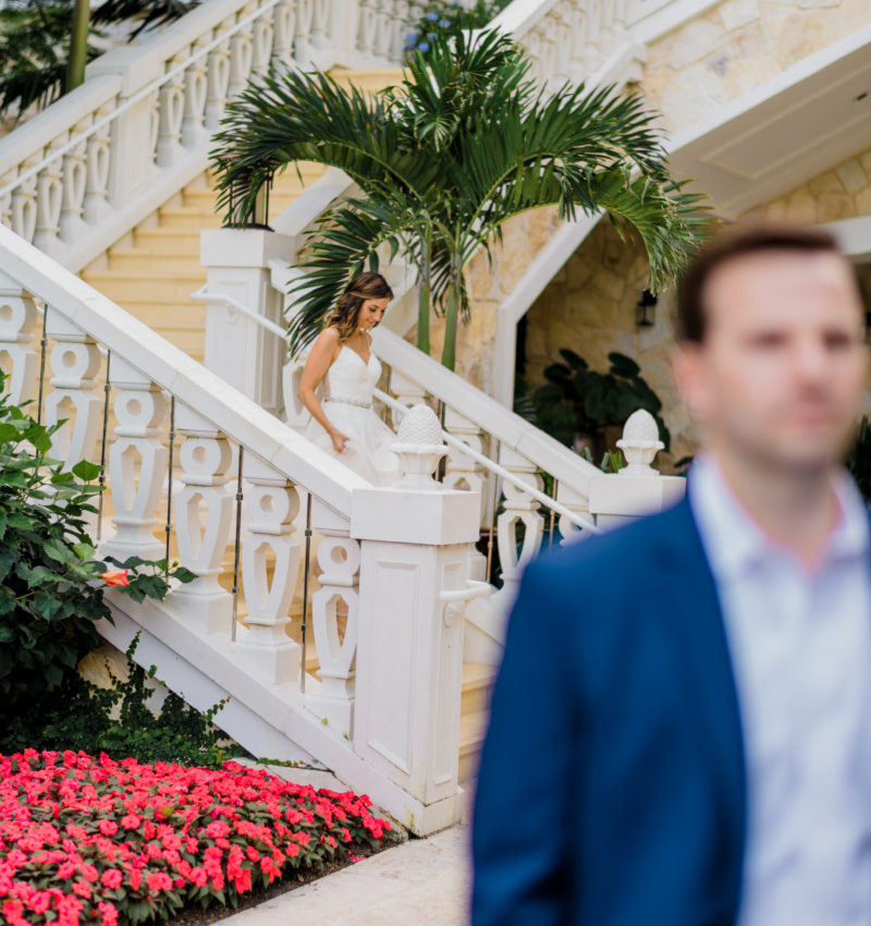Wedding First Look | Cobalt Chronicles | Houston Lifestyle Blogger | Baha Mar Wedding