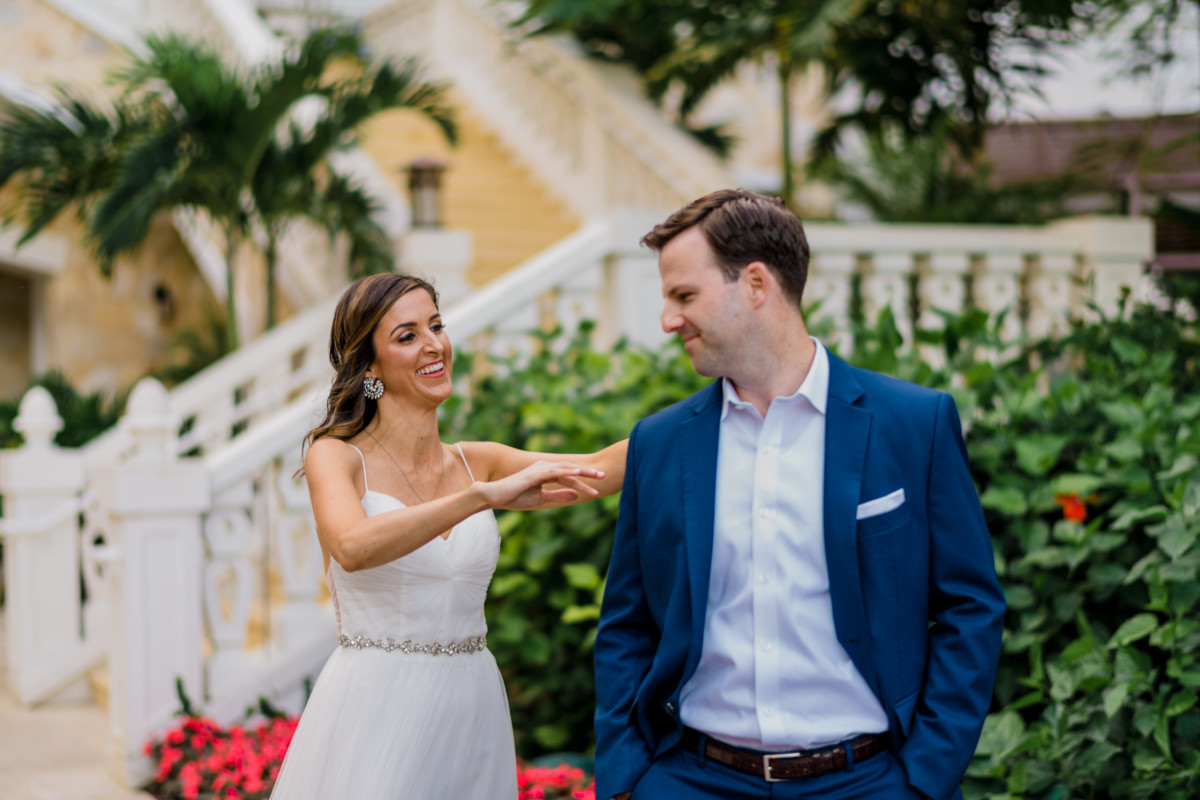 Wedding First Look | Cobalt Chronicles | Houston Lifestyle Blogger | Baha Mar Wedding