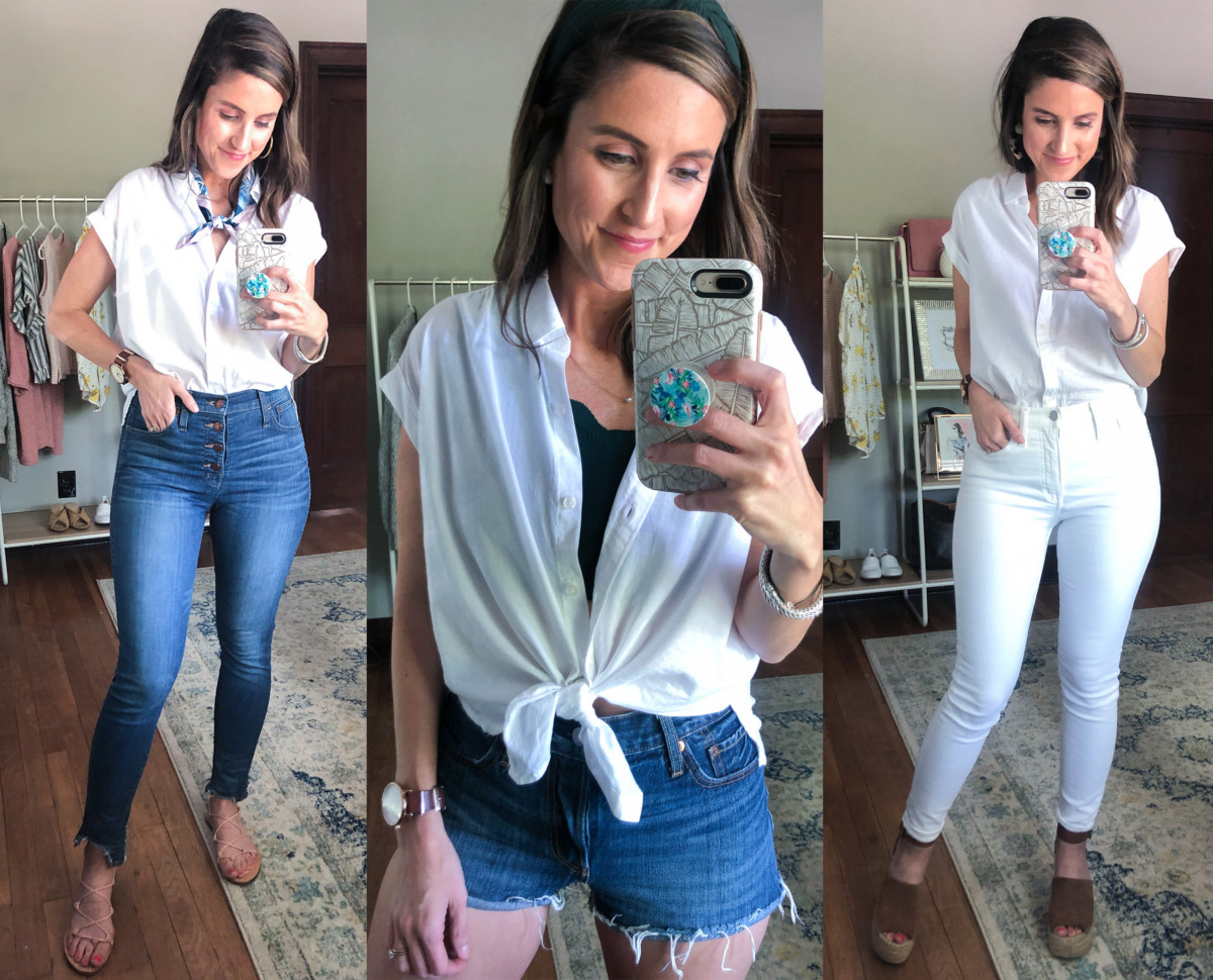 3 Ways to Style a White Button Up for Spring | Cobalt Chronicles | Houston Style Blogger