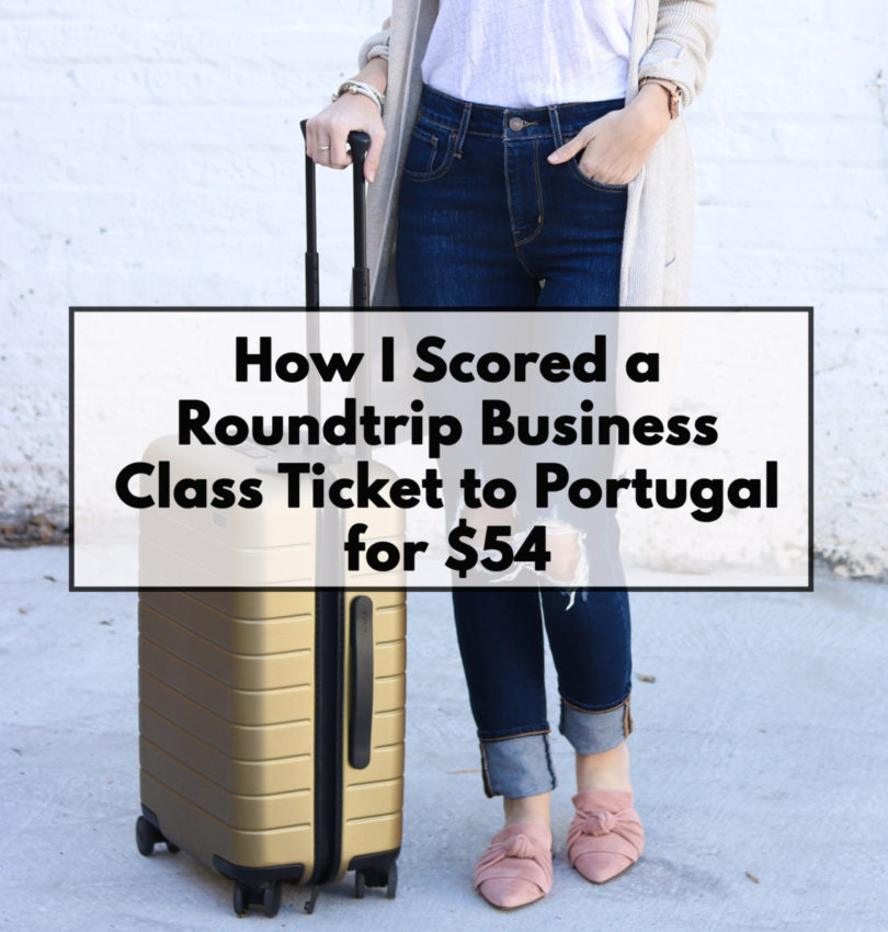 How I Scored a Roundtrip Business Class Flight to Portugal for $54 | Cobalt Chronicles | Houston Travel Blogger