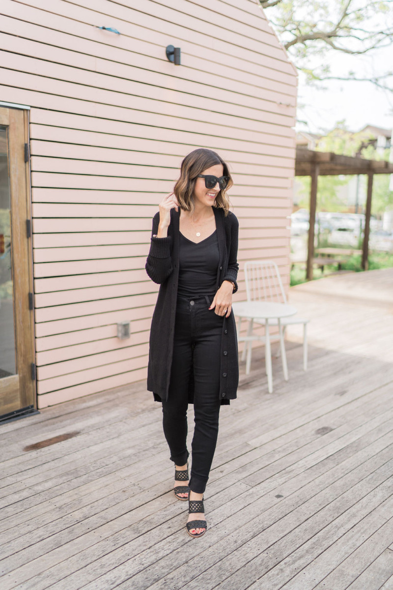 cabi Fall Collection | Long Black Cardigan | Cobalt Chronicles | Houston Style Blogger