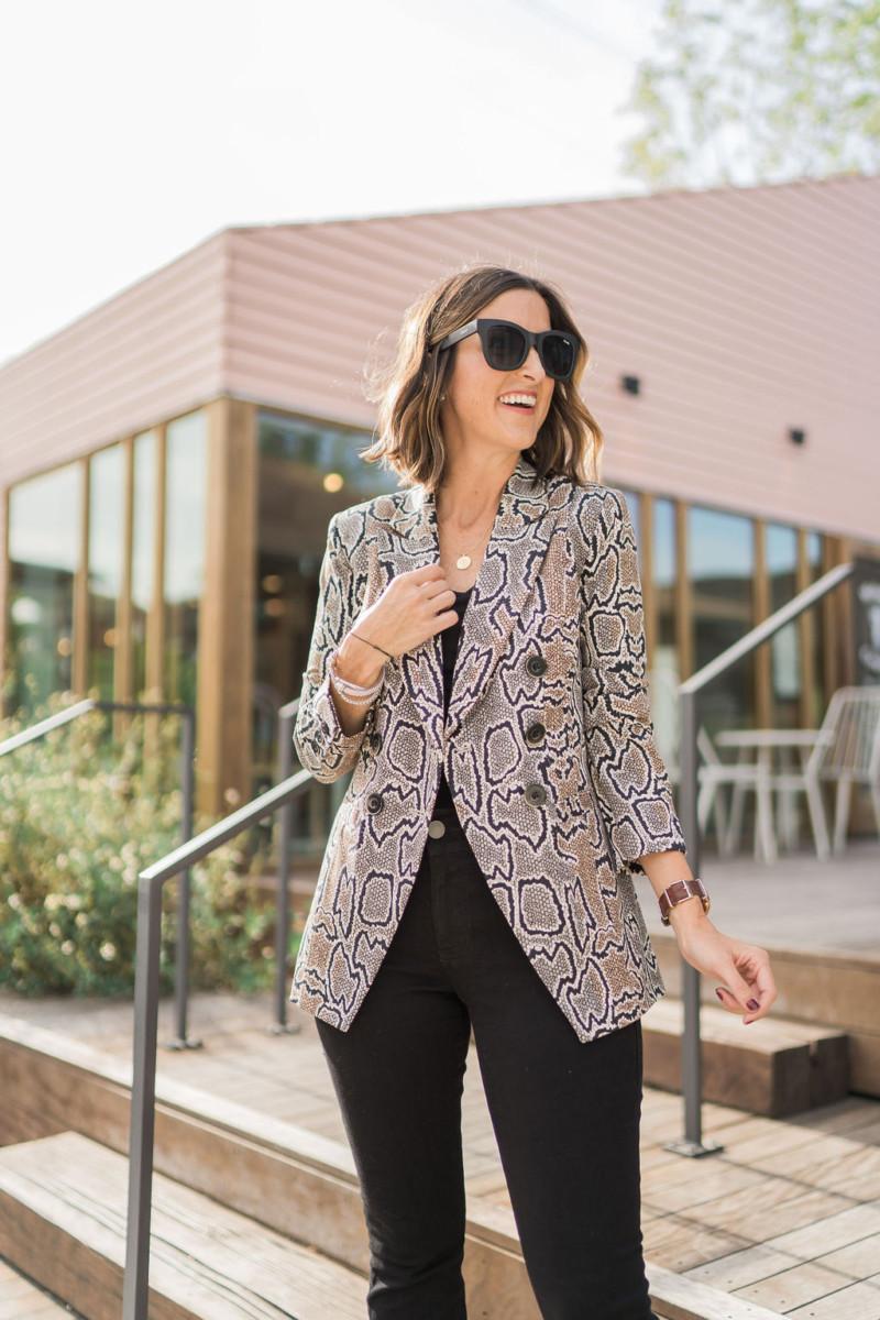 cabi Fall Collection | Snake Print Blazer | Cobalt Chronicles | Houston Style Blogger