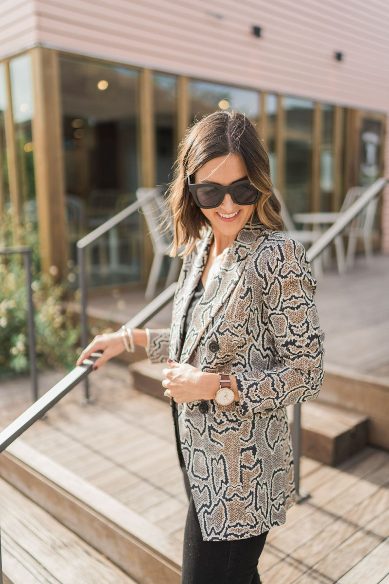 cabi Fall Collection | Snake Print Blazer | Cobalt Chronicles | Houston Style Blogger