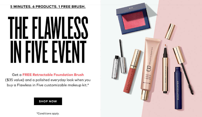 Beautycounter   Flawless In Five   Cobalt Chronicles