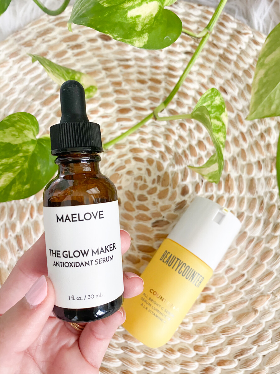 Maelove Vitamin C Serum vs Beautycounter All Bright C Serum