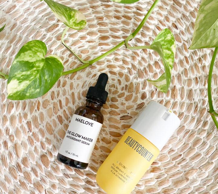 Maelove Vitamin C Serum vs Beautycounter All Bright C Serum