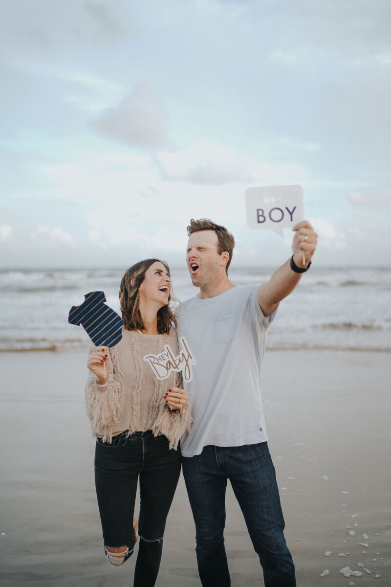 Beach Gender Reveal